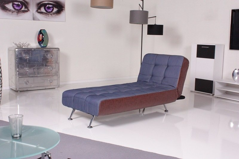Kasper wohndesign relax liege stoff kunstleder denim antik for Wohndesign versand