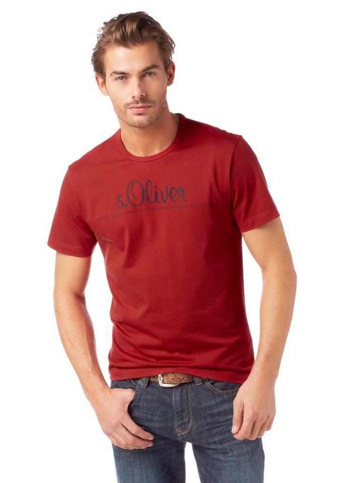 s oliver t shirt logo logodruck online kaufen otto. Black Bedroom Furniture Sets. Home Design Ideas