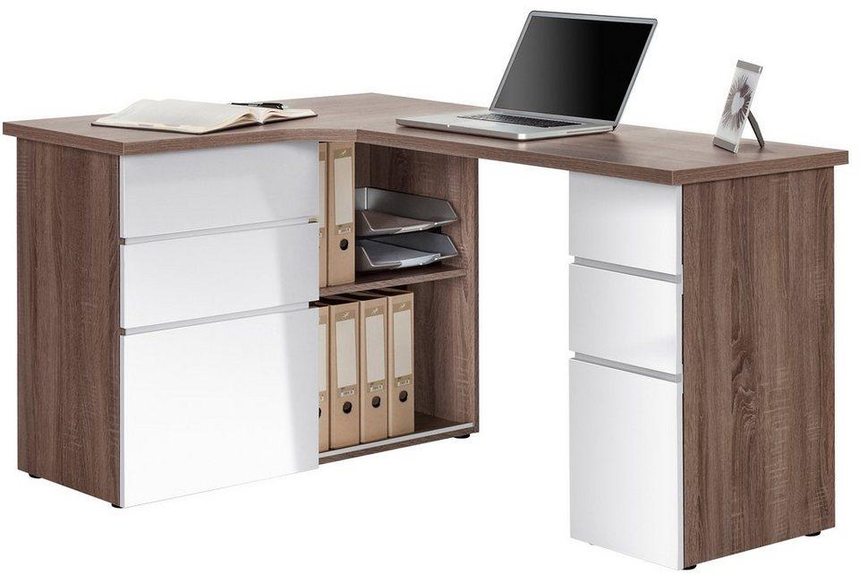 eckschreibtisch winkelschreibtisch kaufen otto. Black Bedroom Furniture Sets. Home Design Ideas
