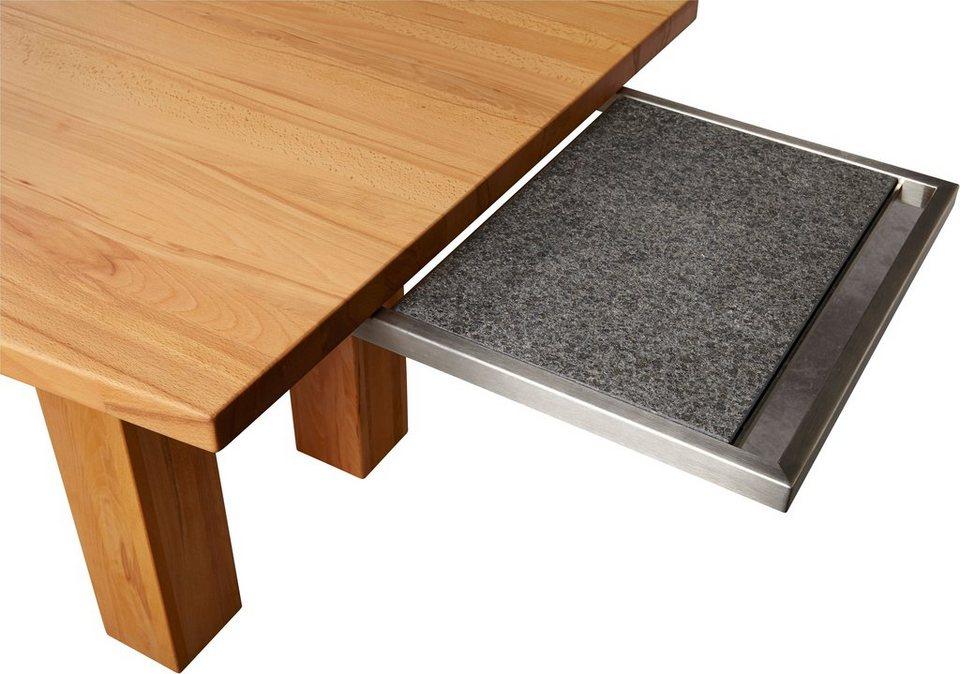 VENJAKOB Granitplatte auf Edelstahl-Auszug
