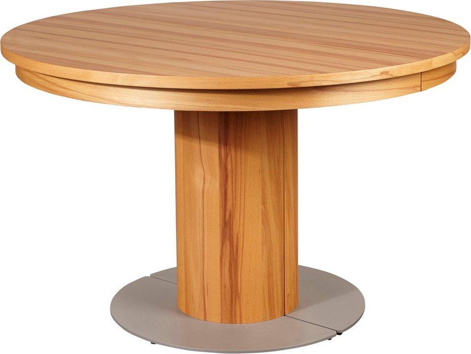 VENJAKOB Säulen-Kulissentisch mit Auszugsfunktion »my home«, runde Tischplatte, Ø 120 cm in Kernbuche