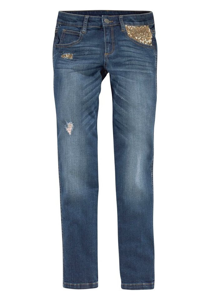 Arizona Stretch-Jeans Skinny in darkblue