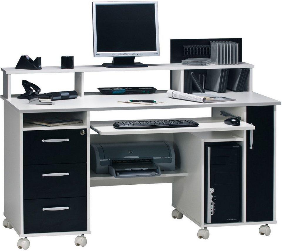 schreibtisch maja m bel passau mit tastaturauszug und. Black Bedroom Furniture Sets. Home Design Ideas