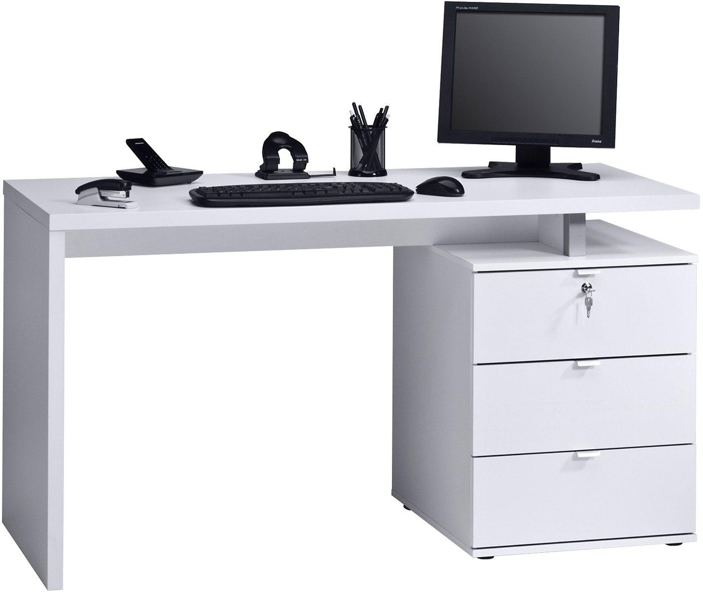 SchreibtischMaja KaufenOtto MöbelSchubkästen Auf Online Metalllaufschienen K1J3lTFc