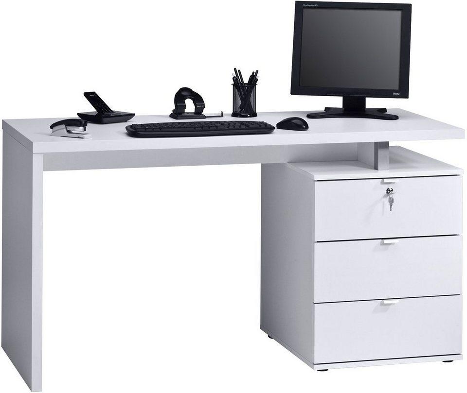 Schreibtisch, Maja Möbel in weiß