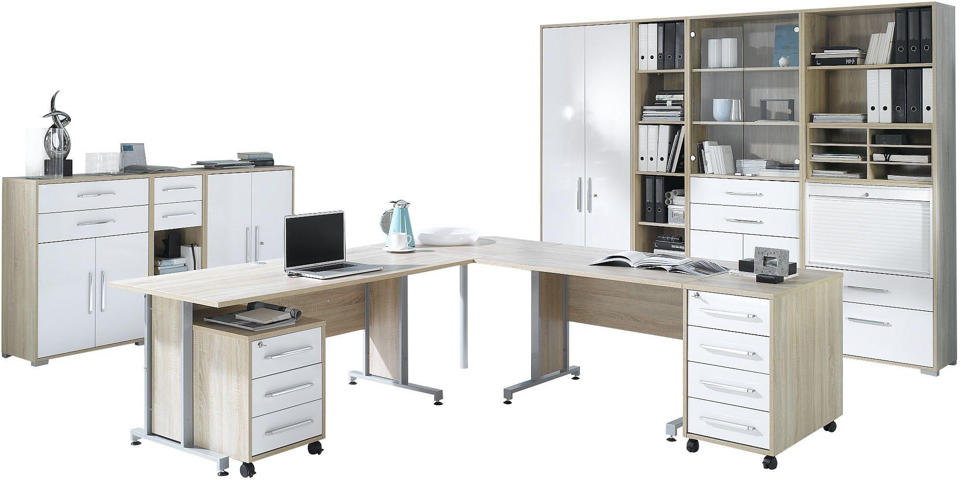 Maja Möbel Büromöbel-Set (6-tlg.) »1205« | Büro > Büromöbel-Serien | Weiß - Hochglanz | Hochglanz - Glänzend - Kunststoff - Abs | Maja Möbel