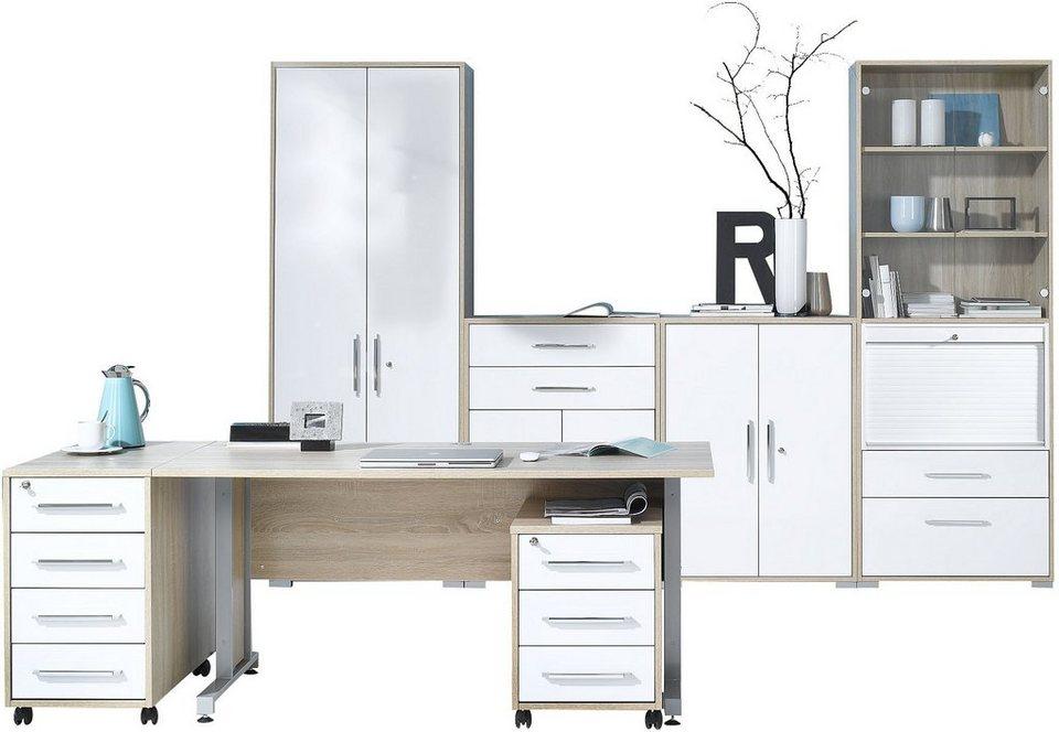 Büromöbel weiss hochglanz  Maja Möbel Büromöbel-Set (6-tlg.) »1202« kaufen | OTTO