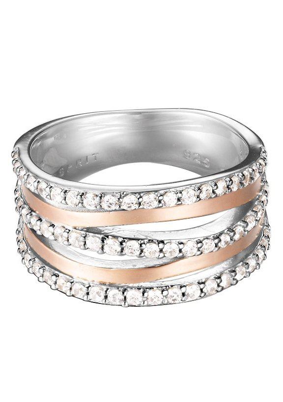 "ESPRIT Ring ""ESPRIT-JW50145 Bicolor, ESRG92274A"" in silberfarben/roségoldfarben"
