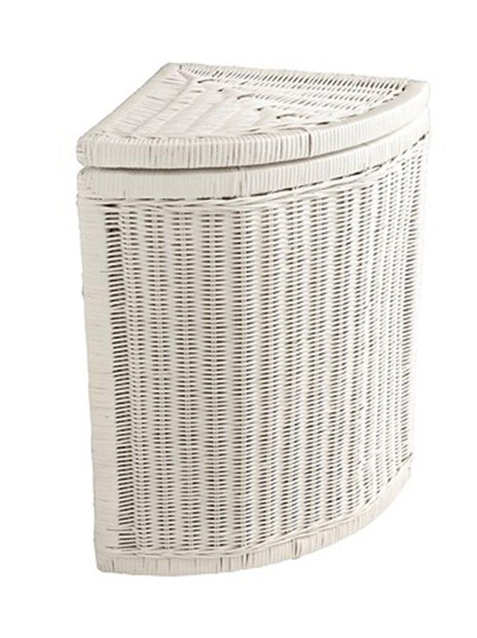heine home Eck-Wäschekorb in weiß