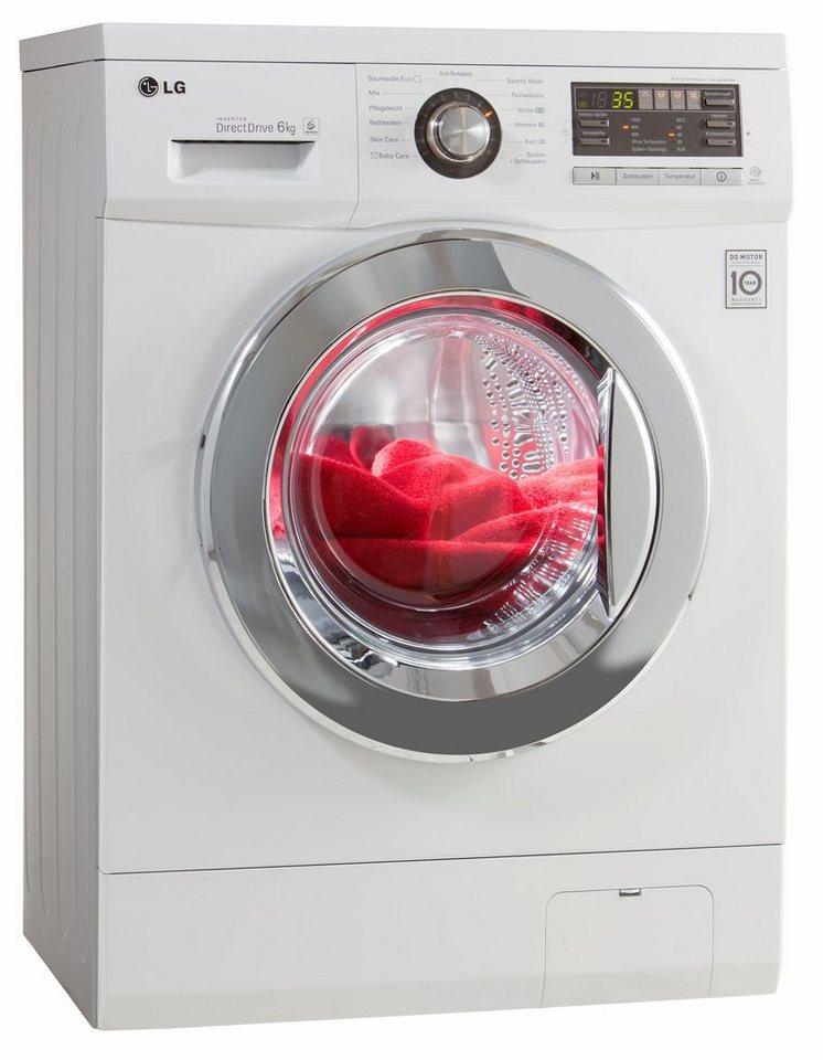 LG Waschmaschine F1296NDA, A+++, 6 kg, 1200 U/Min in weiß