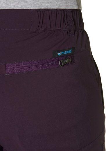 Polarino Trekkinghose, mit elastischen Einsätze im Hosenbund