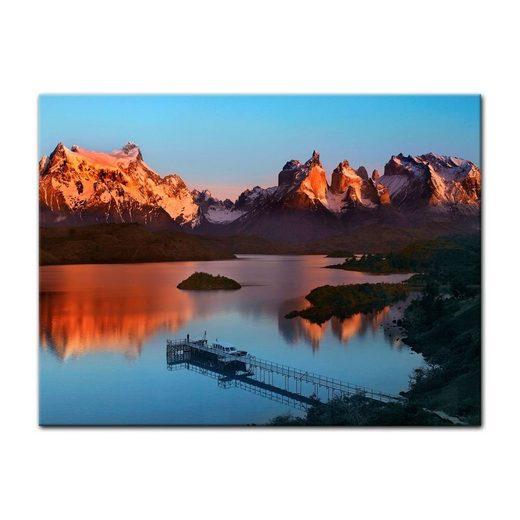 Bilderdepot24 Leinwandbild, Leinwandbild - Torres del Paine - Chile
