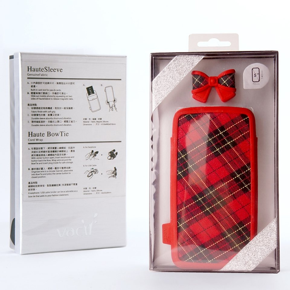 VACII Set »5 Zoll Geschenkset Sleeve & BowTie - Scotland«