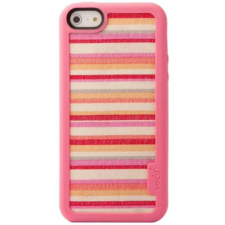 VACII Premium »iPhone5/5S Hülle, Echtstoff Rückseite - Pink«