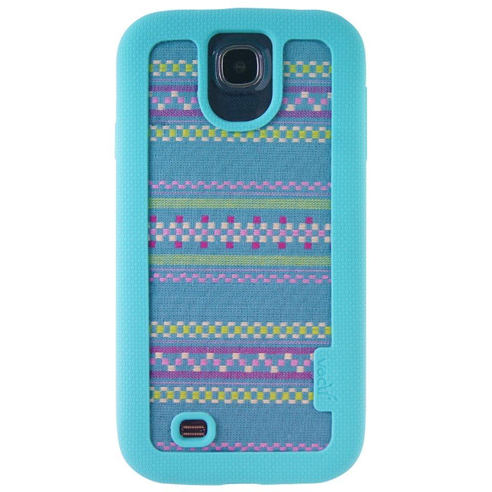 VACII Premium »Samsung S4 Hülle, Echtstoff - NativeArt Blue«