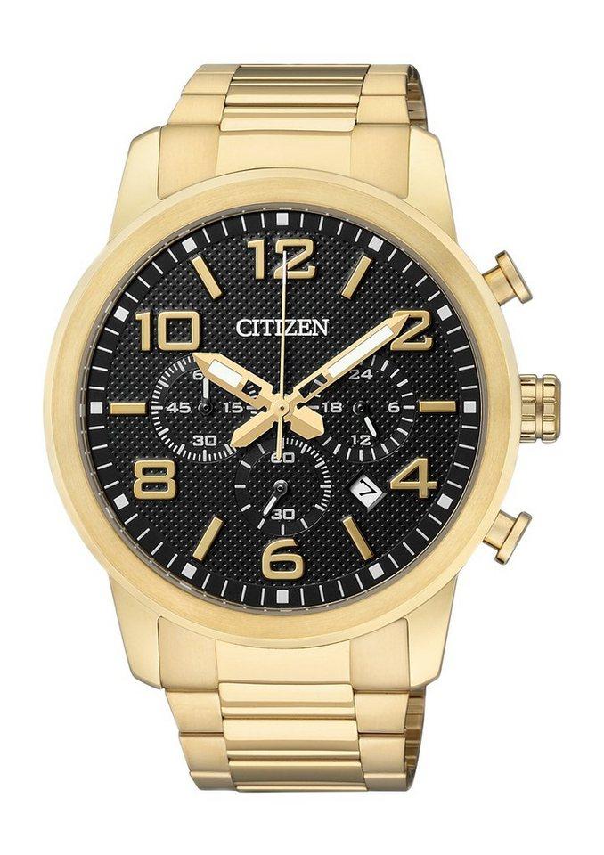 Citizen Chronograph »AN8052-55E« in goldfarben