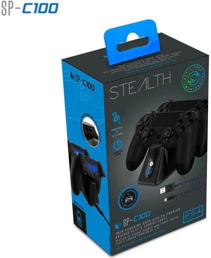 Stealth »Ladestation für PS4 Controller inkl. Ladekabel« USB-Ladegerät
