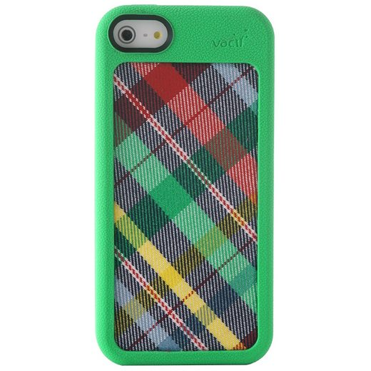 VACII Premium »iPhone5C Hülle, Echtstoff Rückseite - Linear Green«