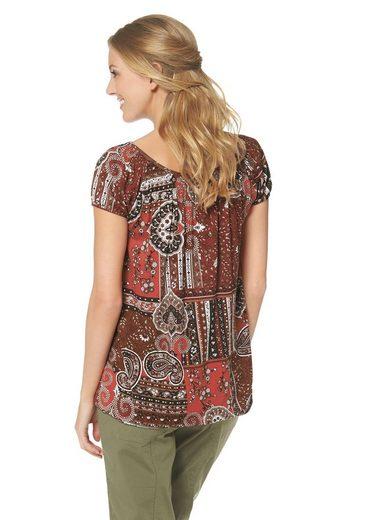 Cheer Print Shirt, With Elastic Band At The Sleeves And At The Hem
