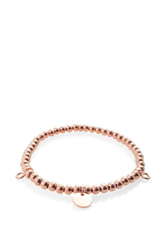 ESPRIT CASUAL Rotgoldfarbenes Edelstahl Charm Armband in one colour