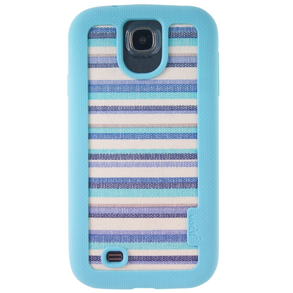 VACII Premium »Samsung Galaxy S4 Hülle, Echtstoff - Blue«