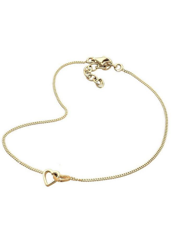 GOLDHIMMEL Fußschmuck »Herz 925 Silber vergoldet« in Gold