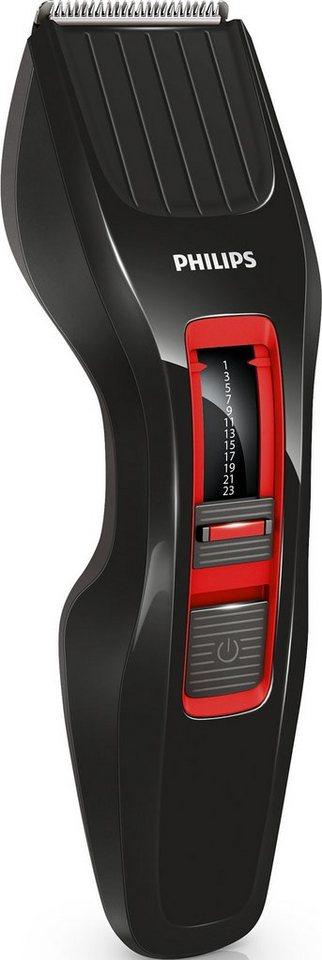 Philips, Haarschneider, HC3420/15, mit DualCut Technologie in schwarz/rot
