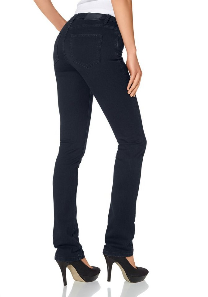 Arizona Gerade Jeans Mid Waist Super-Stretch in rinsed