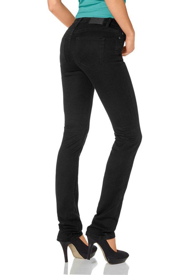 Arizona Gerade Jeans »Super-Stretch« in black