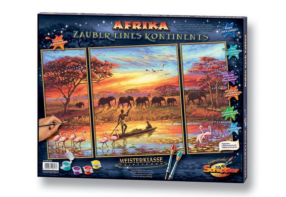 Malen nach Zahlen, »Triptychon - Afrika, Zauber eines Kontinentes«, Schipper