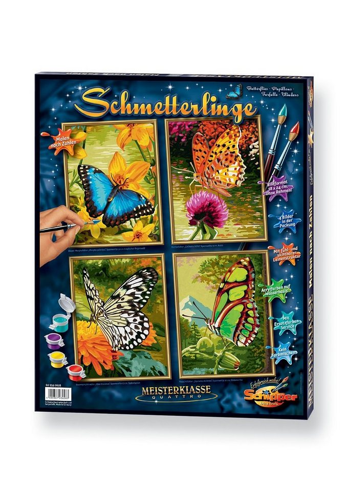 Malen nach Zahlen, »Quattro - Schmetterling«, Schipper