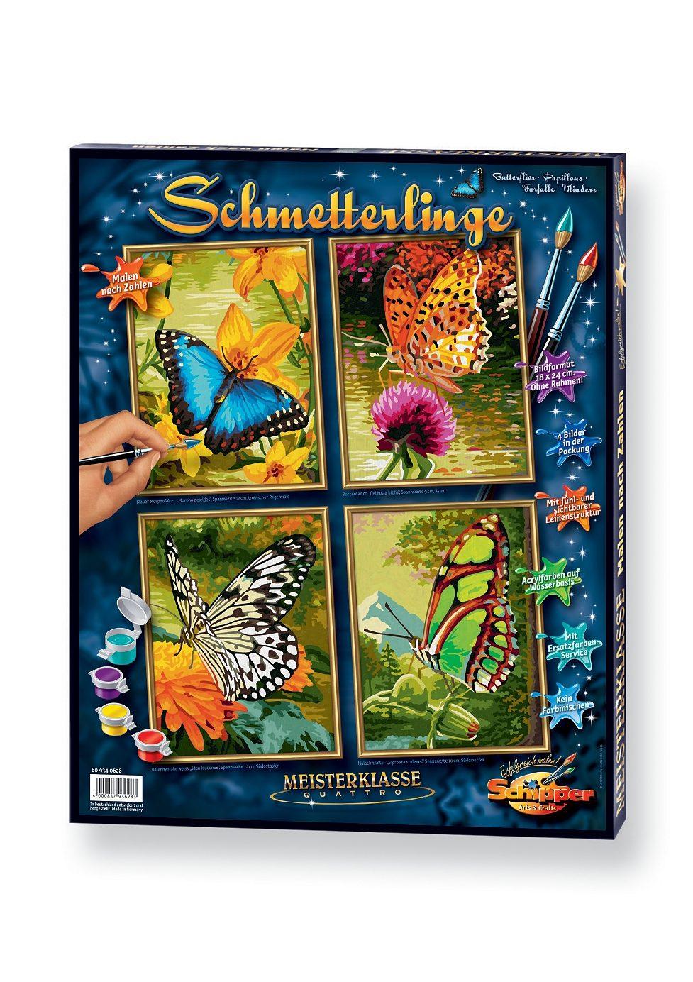 Schipper, Malen nach Zahlen, »Quattro - Schmetterling«