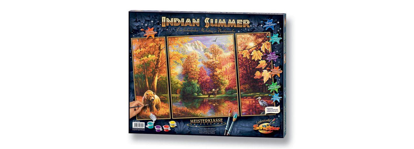 Malen nach Zahlen, »Triptychon - Indian Summer«, Schipper