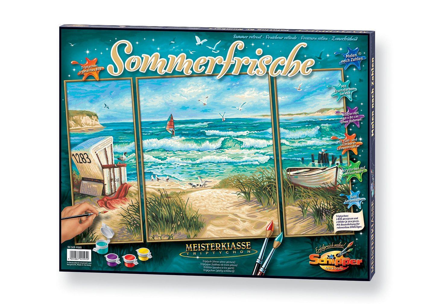 Schipper, Malen nach Zahlen, »Triptychon - Sommerfrische«