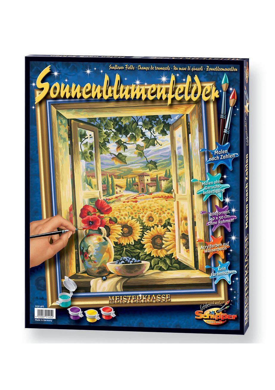 Malen nach Zahlen, »Sonnenblumenfelder«, Schipper