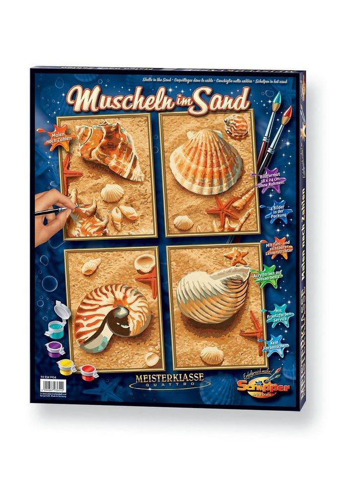 Malen nach Zahlen, »Quattro - Muscheln im Sand«, Schipper
