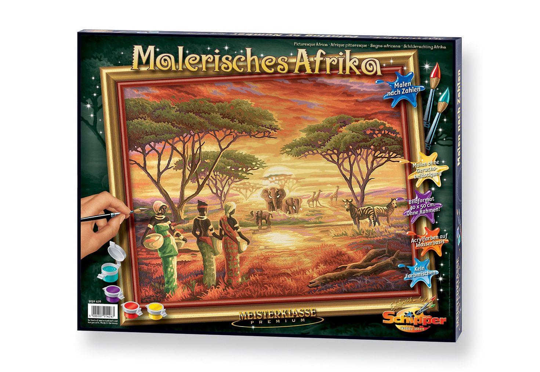 Malen nach Zahlen, »Malerisches Afrika«, Schipper