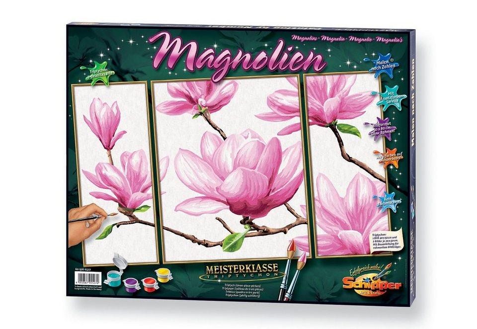 Malen nach Zahlen, »Triptychon - Magnolien«, Schipper