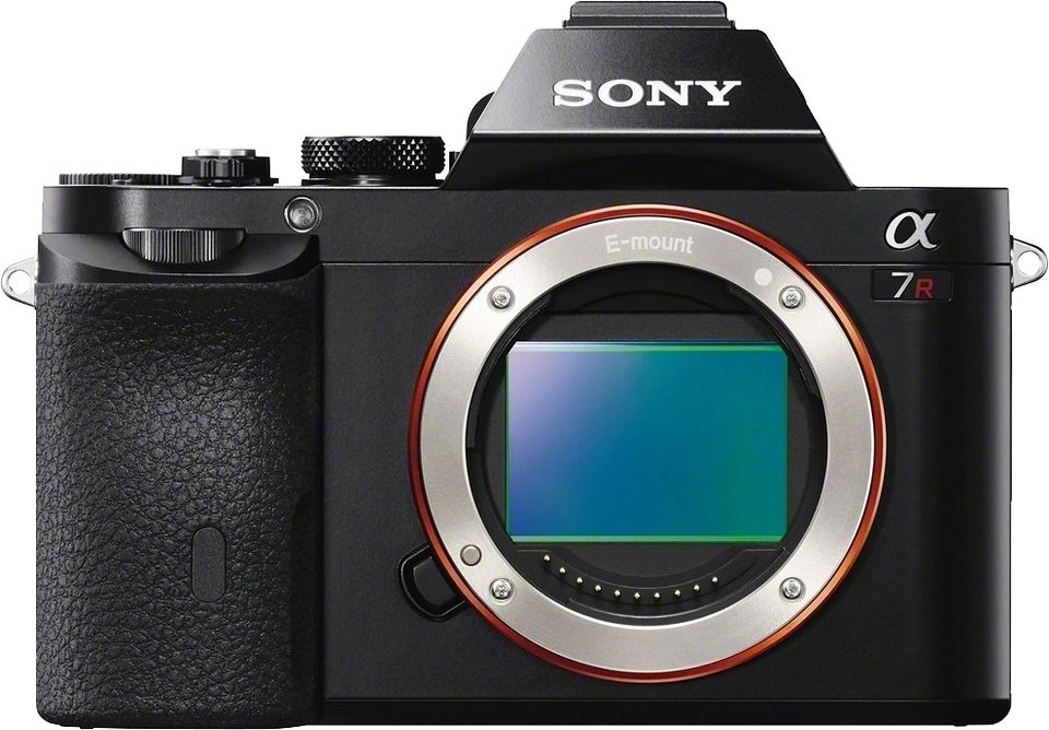 Sony Alpha ILCE-7R Body System Kamera, 36,4 Megapixel, 7,5 cm (3 Zoll) Display in schwarz