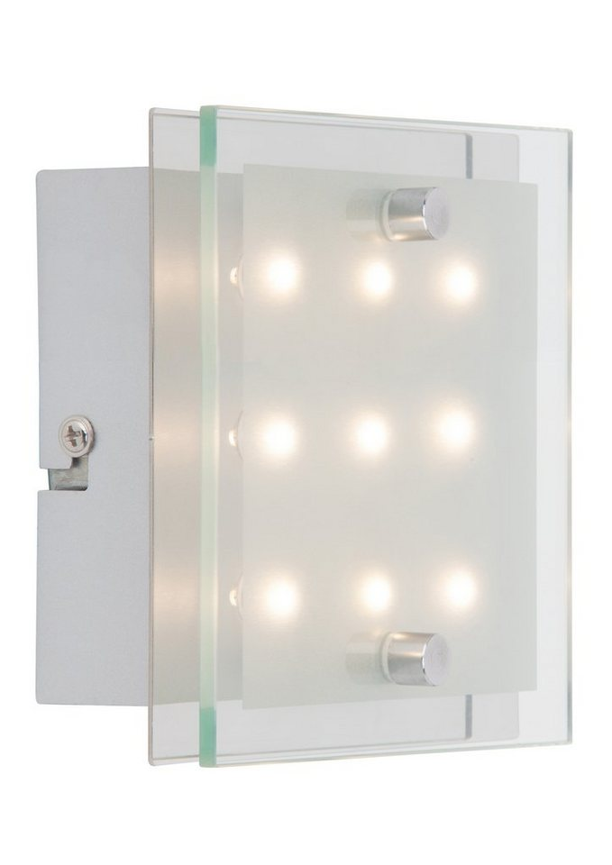 LED-Wandlampe, Brilliant Leuchten in silberfarben