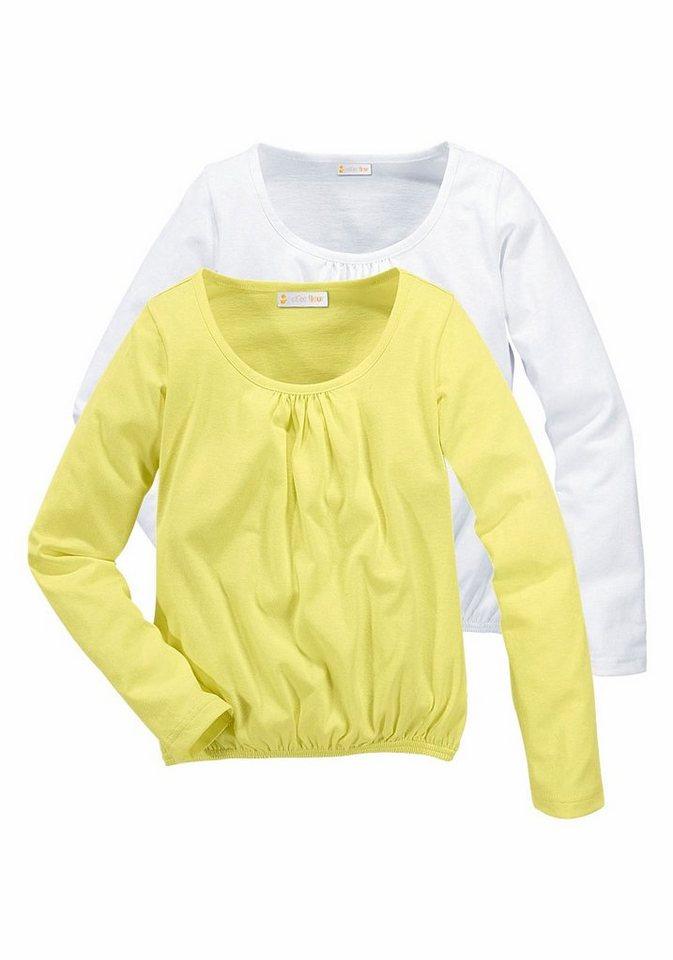 petite fleur langarmshirt f r m dchen packung 2 st ck online kaufen otto. Black Bedroom Furniture Sets. Home Design Ideas