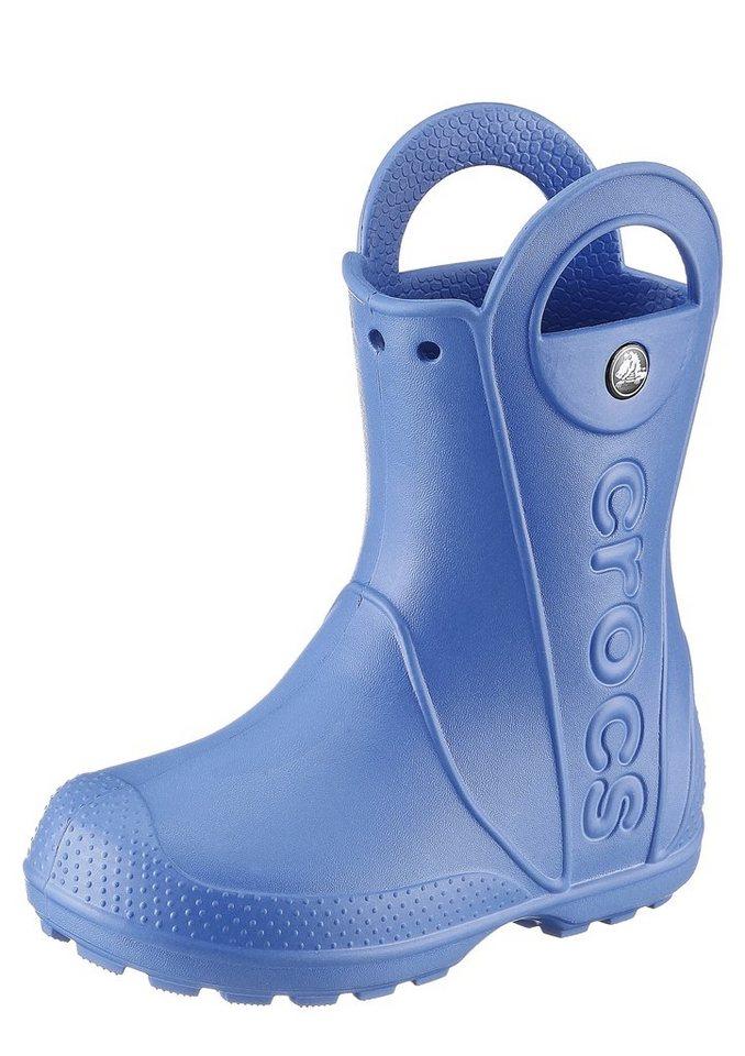 Crocs Gummi Stiefel reflektierend in blau