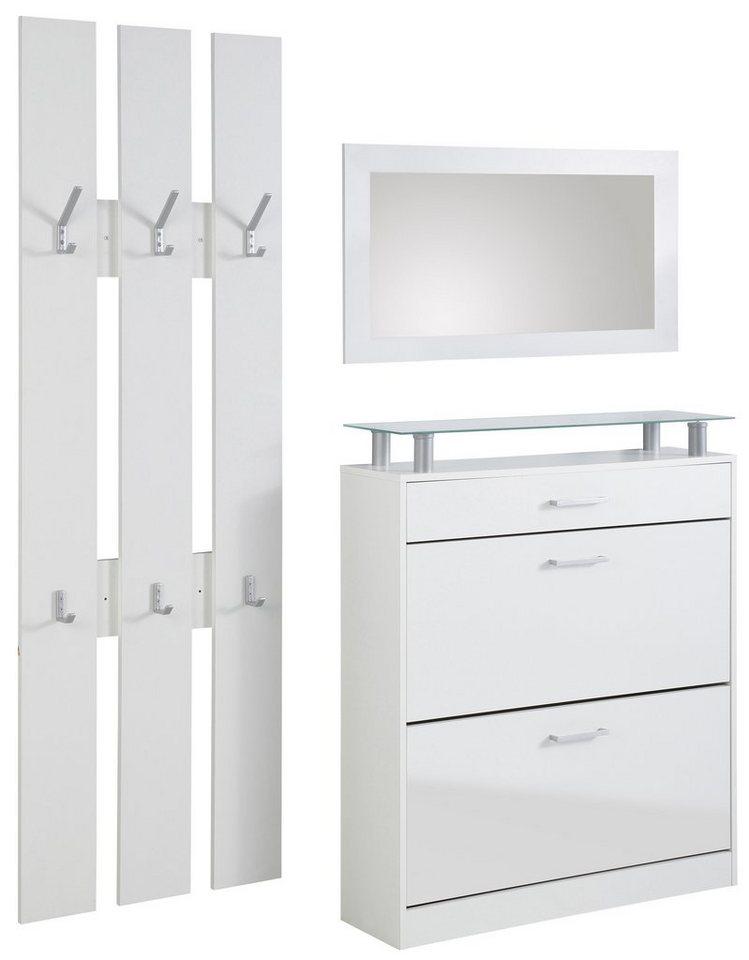 Garderoben-Set »Vista« (3-tlg.) in weiß-weiß matt