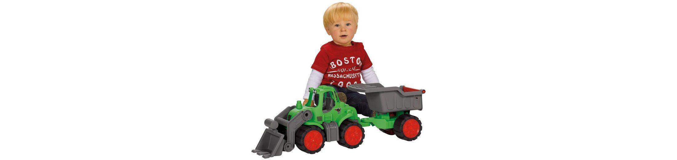 BIG Traktor mit kippbarem Anhänger »BIG Power Worker Muldenkipper«