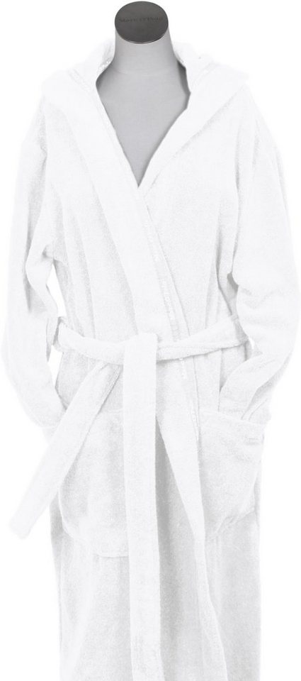 Unisex-Bademantel, Marc O'Polo Home, »Classic Hood«, Borte mit Markenlogo in white