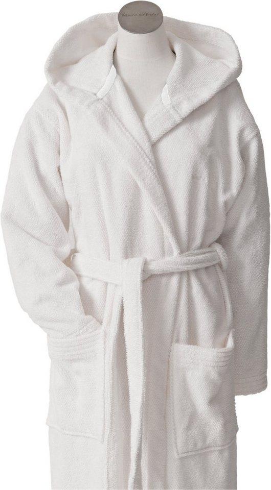 Unisex-Bademantel, Marc O'Polo Home, »Timeless Uni«, klassische Farbtöne in white