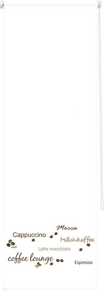 Seitenzugrollo, Good Life, »Andrea«, im Fixmaß, Lichtschutz (1 Stck.) in weiß - caffee