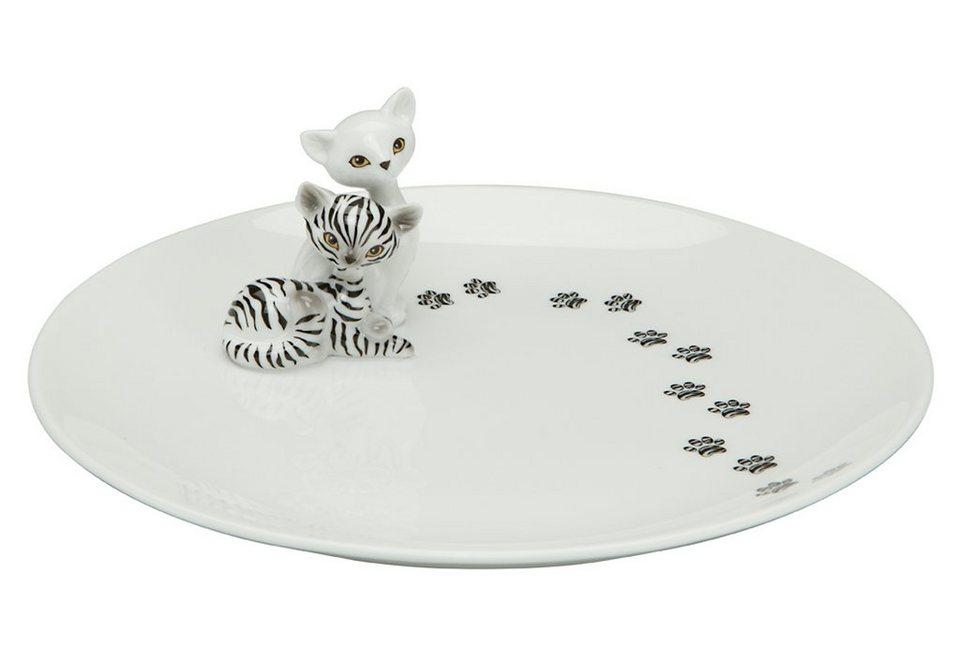 Teller Kitty, Goebel in weiß