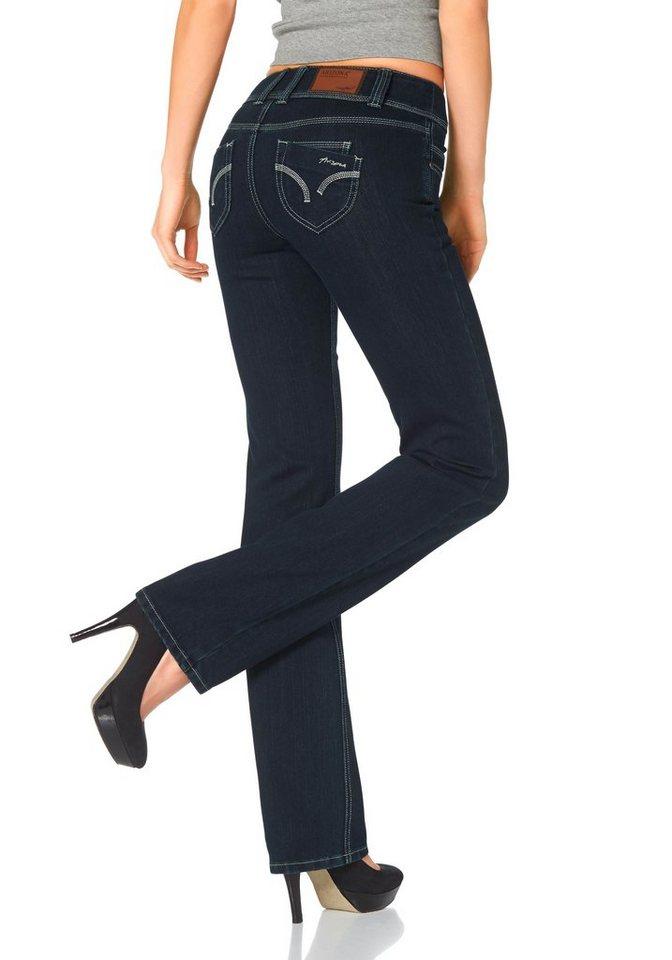 Arizona Gerade Jeans »Push-up« in rinsed