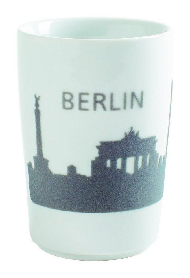 Kahla Maxi-Becher Skyline Berlin »Five Senses Touch« in Grau